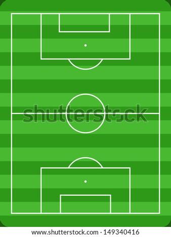 Football Field Diagram White Lines Green Stock Illustration