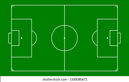 football field with green background, soccer field
