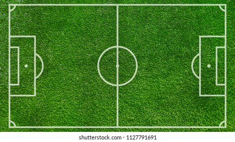 Football field or soccer field background. Green court for create game.
