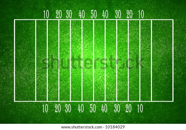 Football Field Soft Central Focus Illustrations Clip Art Sports Recreation Stock Image