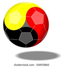 Football forming Yin & Yang in German Colors