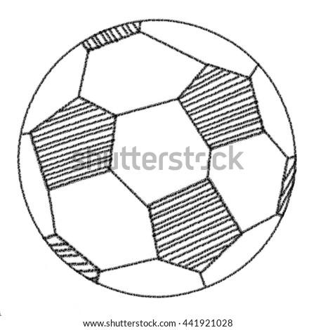 Football Hand Drawing Pencil Stock Illustration 441921028 Shutterstock