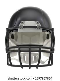 Football Helmet 3D illustration on white background