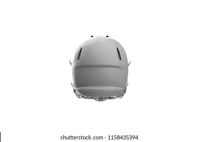 Football Helmet Back View