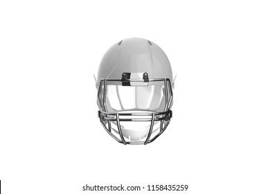 Football Helmet Front View