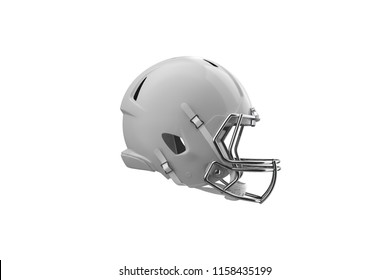 Football Helmet Side View