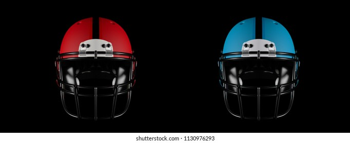 Football helmets isolated and path included 3d work