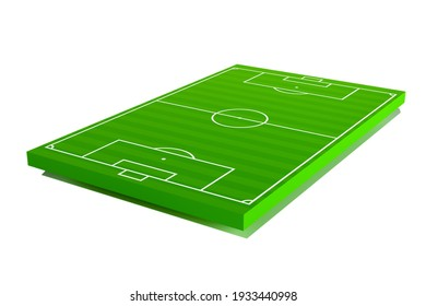 Football pitch. The european soccer field layout. 3d illustration