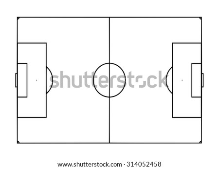 Football pitch template stock illustration 314052458 shutterstock football pitch template maxwellsz