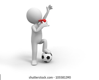 Football Referee/A man is blowing the whistle