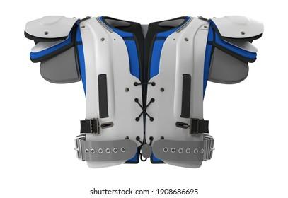 Football Shoulder Pads 3D illustration on white background
