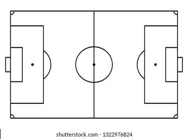 <b>Football</b> Pitch <b>Outline</b> High Res Stock <b>Images</b>   Shutterstock
