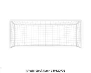 Football - soccer gate. 3D render illustration isolated on white background