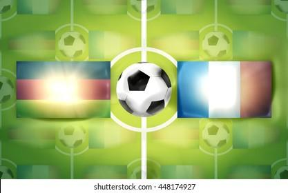 football soccer germany france background 3d render