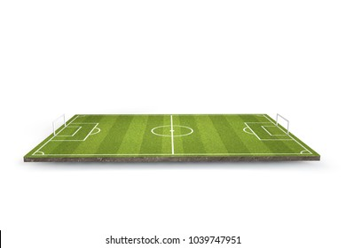 Football, soccer pitch. 3D Rendering