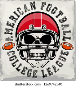 Football sport typography; t-shirt graphics
