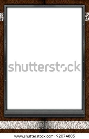 Football Themed Mat Frame 24 X 36 Poster Stock Illustration 92074805 ...