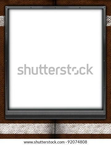 Football Themed Mat Frame 8 X 10 Can Stock Illustration 92074808 ...