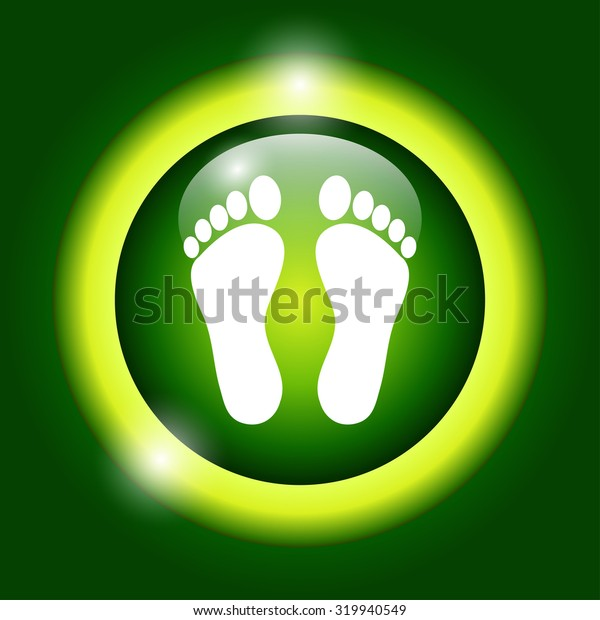 footprint - icon. Flat design style