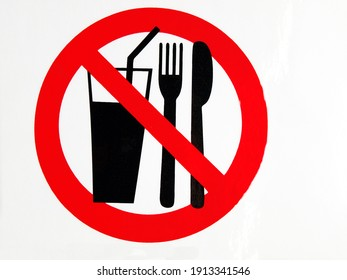 forbidden with food and drink - sign