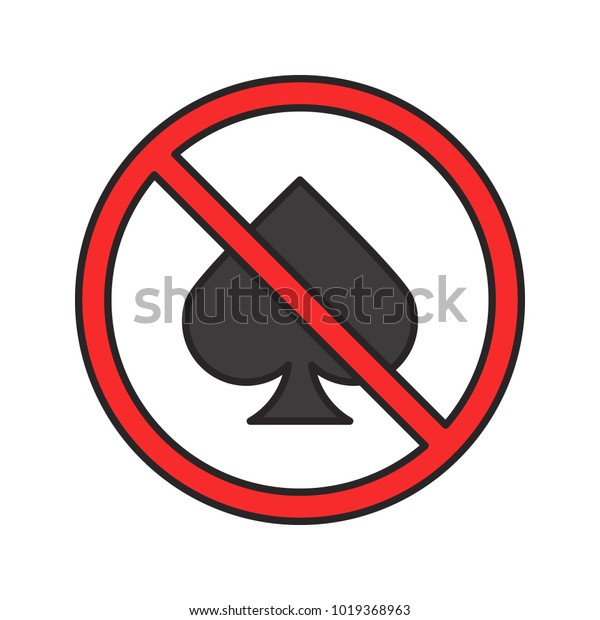spade card no  Forbidden Sign Spade Card Suit Color | Objects Stock Image