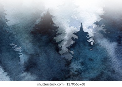 forest in the fog. autumn. winter. background