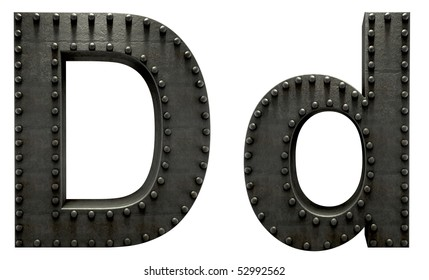 Forge metal font rivet