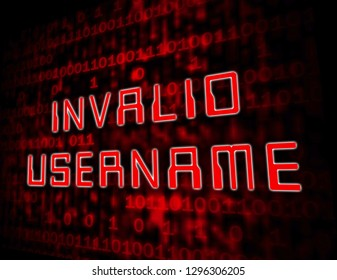 Forgot Username Words Means Wrong Userid Entered. Online Access Id Security Error - 3d Illustration