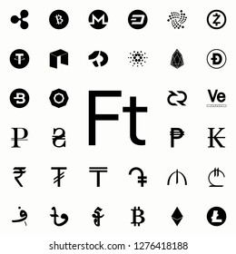 forint icon. Crepto currency icons universal set for web and mobile
