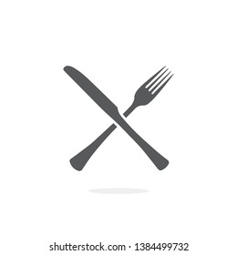 Fork and Knife icon on white background