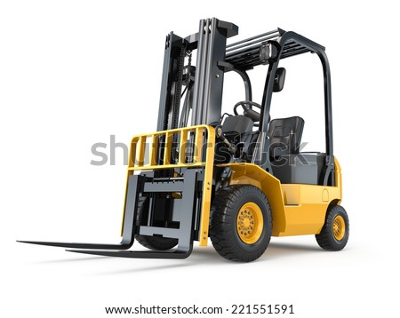forklift truck on white isolated backgroundのイラスト素材 221551591