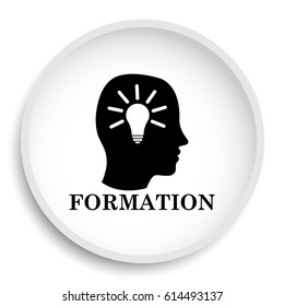 Formation icon. Formation website button on white background.