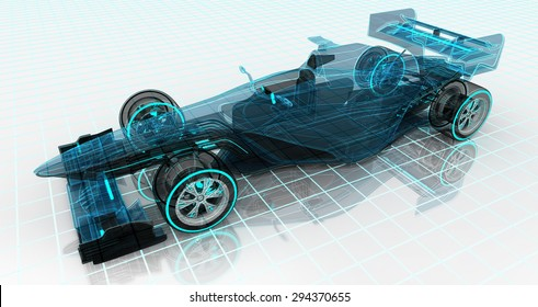 formula car technology wireframe sketch upper front view motorsport product background design of my own