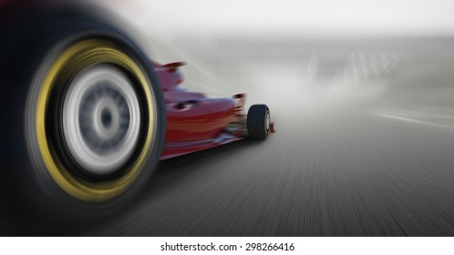 formula one car speeding