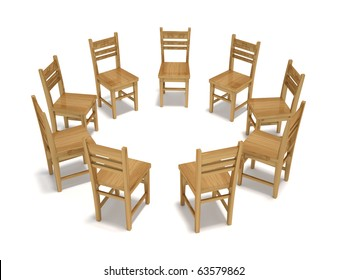 Forum Chairs - this is a 3d render illustration