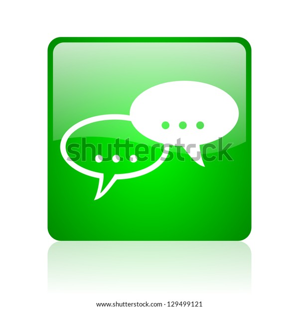 forum green square web icon on white background