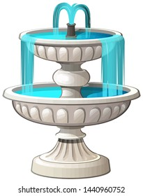 fountain outdoor architecture water stream blue illustration