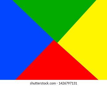 Four color background with oblique division