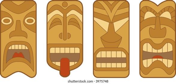 hawaii tiki art images stock photos vectors shutterstock