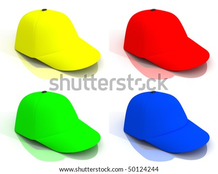 Four Multicoloured Baseball Caps Stock Illustration 50124244 ... a8aef9f17a5