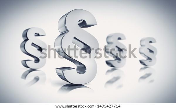 Vier-Absatz-Symbole auf weißem Hintergrund - 3D-Illustration