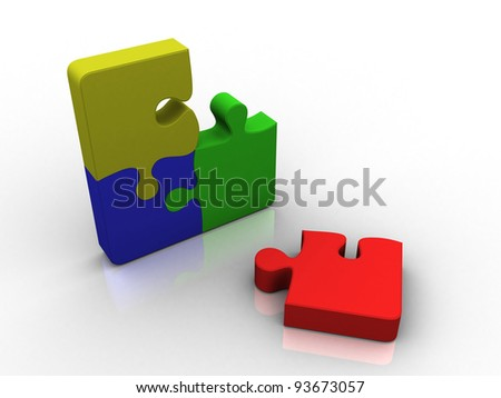 Royalty Free Stock Illustration of Four Piece Color Puzzle