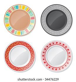 Four plates.