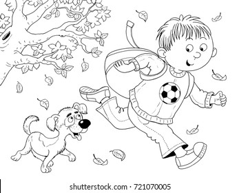 1000 Coloring Page Playing Kids Nature Stock Images Photos