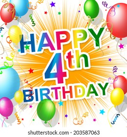 Happy 4th Birthday Images
