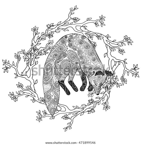 Creative Cuties: Foxy Fox coloring page | art therapy | Fox ... | 620x600