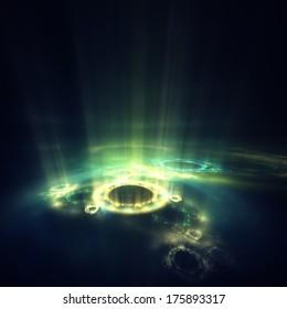 Fractal aura : abstract digital render