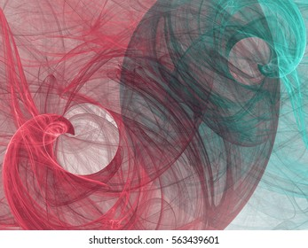 Fractal background with abstract swirls. Design element for brochure, advertisements, presentation, web and other graphic designer works. Digital collage.