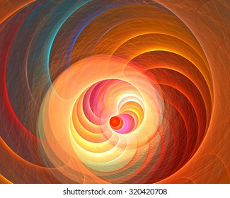 Fractal background with bright deep spiral shape.  High detailed image. Fine microtexture.