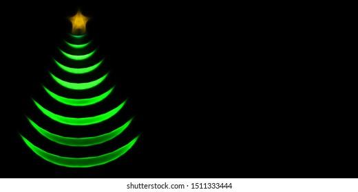 Fractal christmas trees on dark background